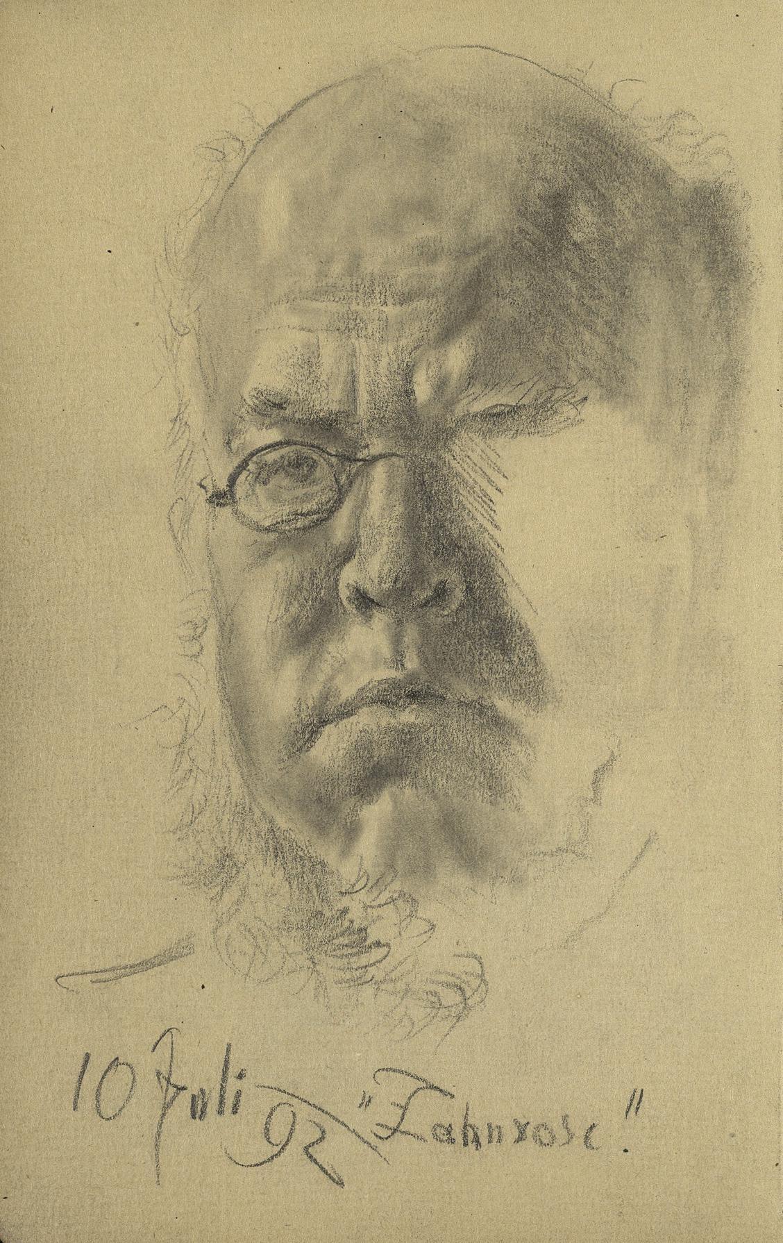 Adolph Menzel / Autoportrét, 1892