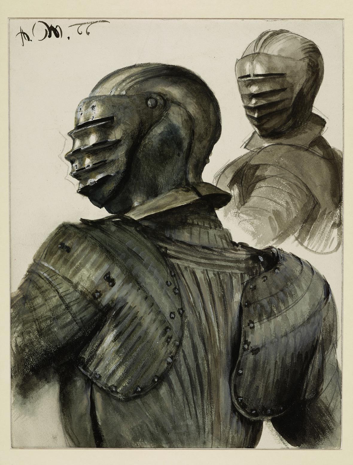 Adolph Menzel / Dvě brnění, 1866