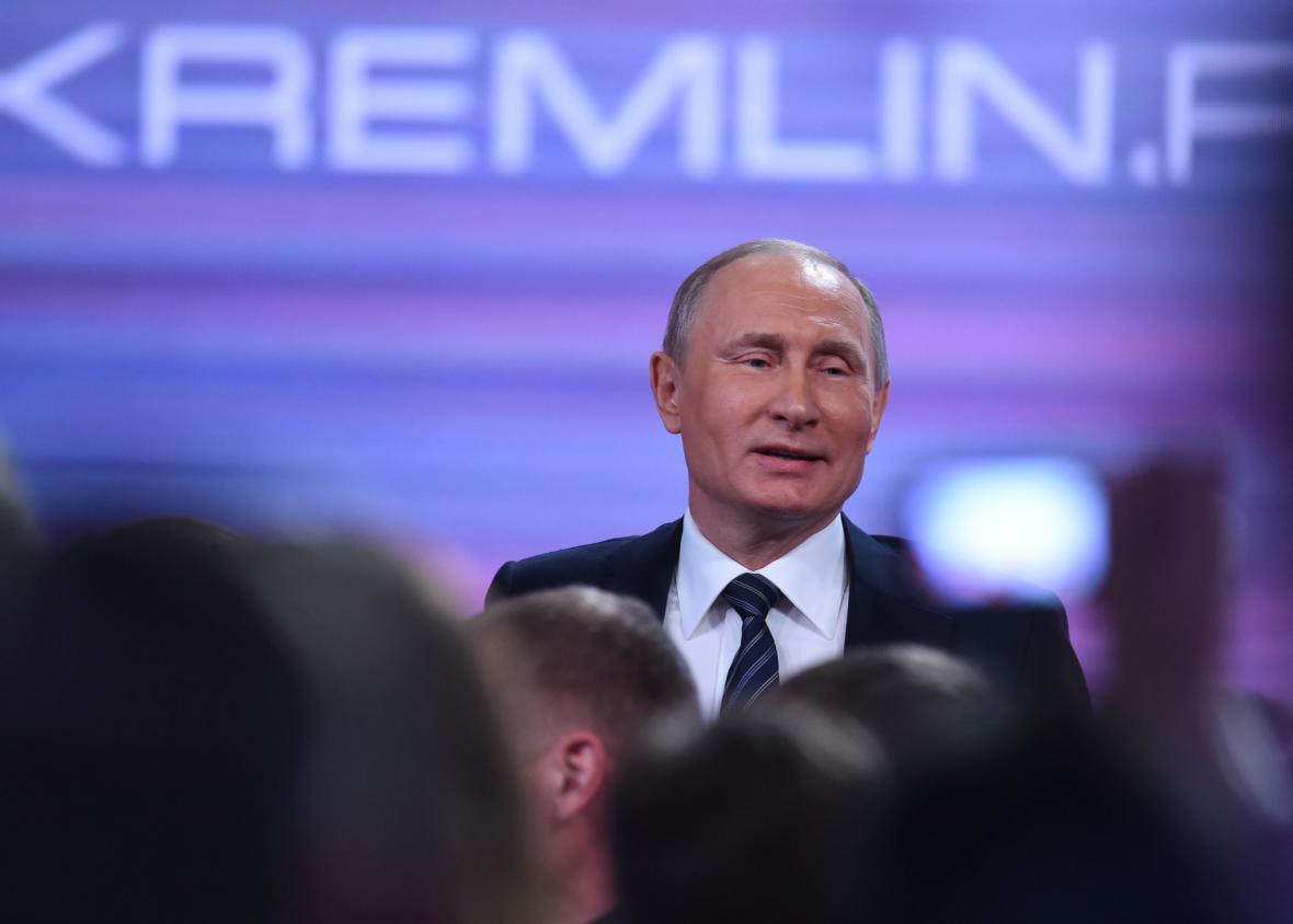 Brífink ruského prezidenta Putina