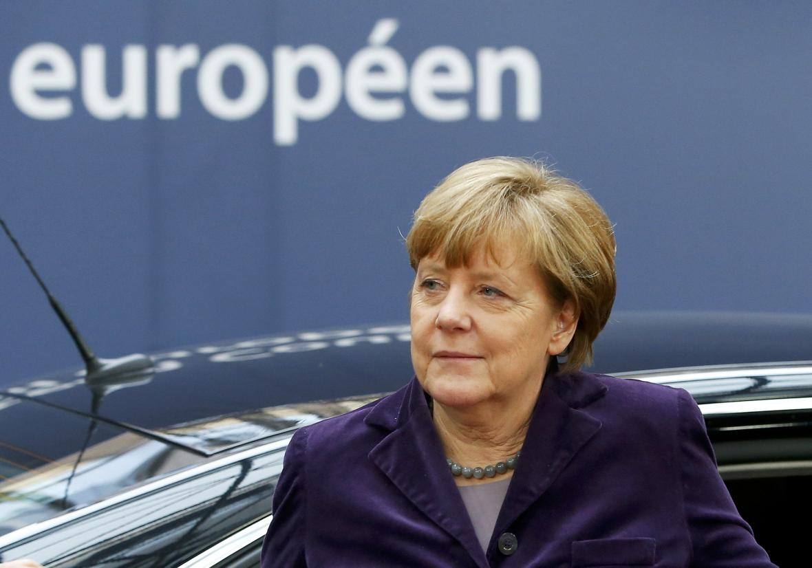 Angela Merkelová na summitu v Bruselu