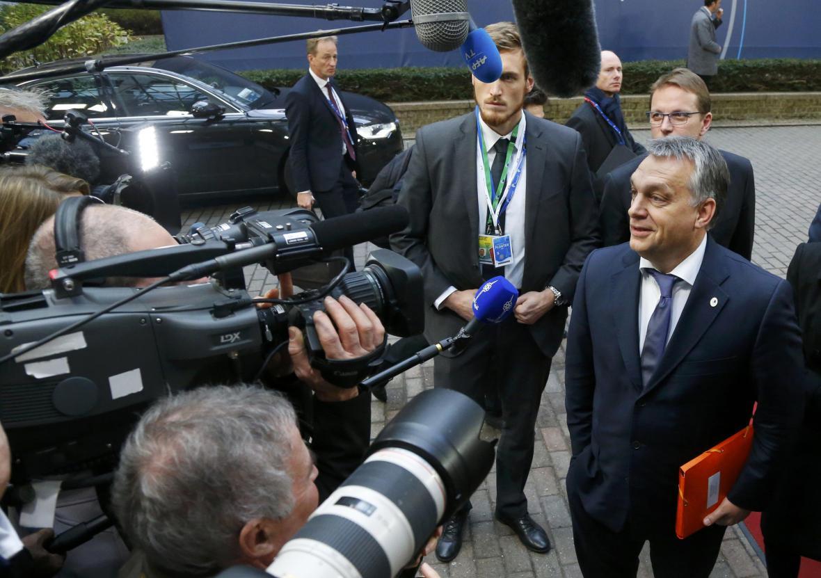 Viktor Orbán na summitu v Bruselu