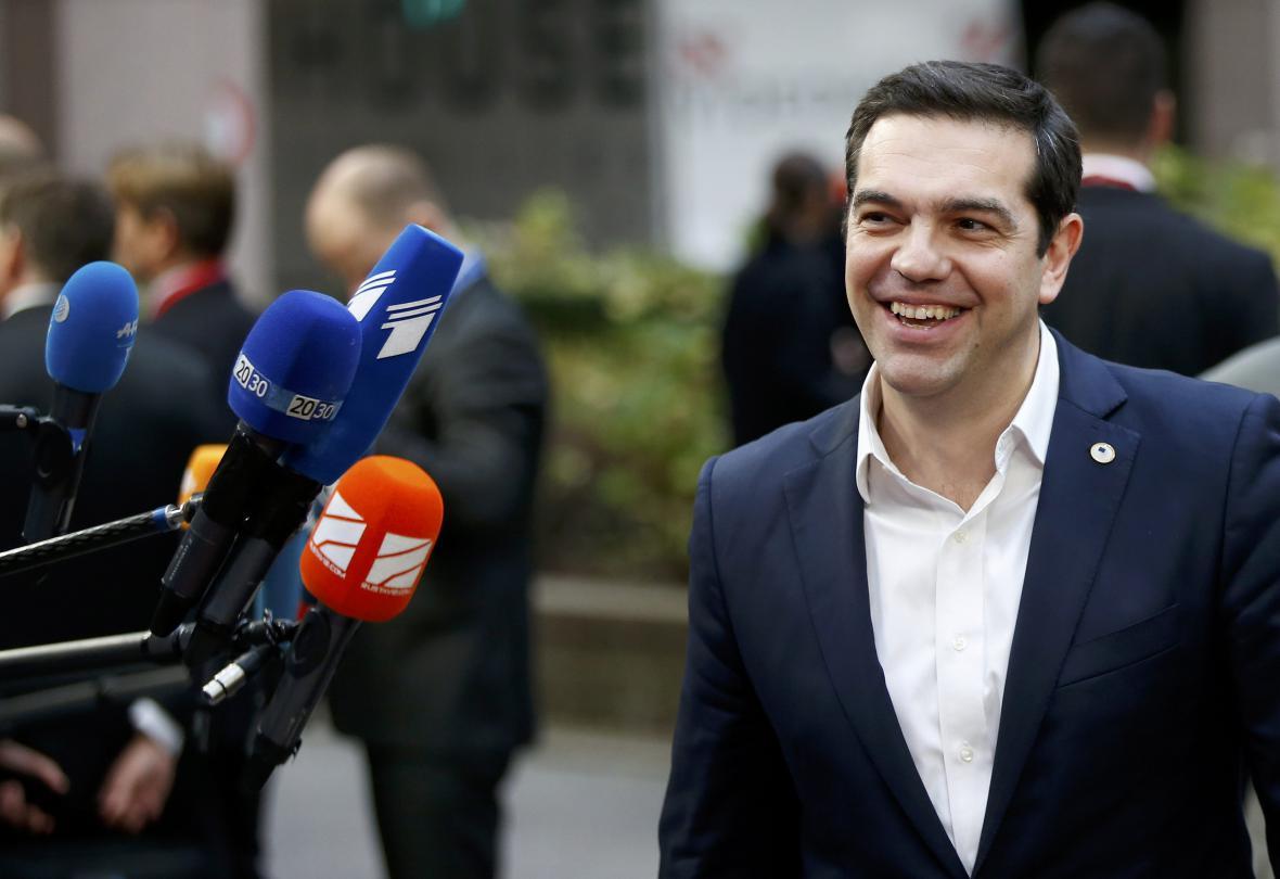 Alexis Tsipras na summitu v Bruselu