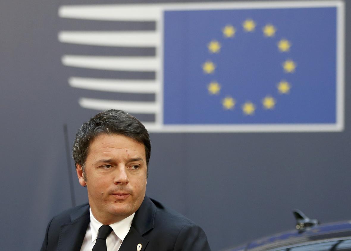 Matteo Renzi na summitu v Bruselu