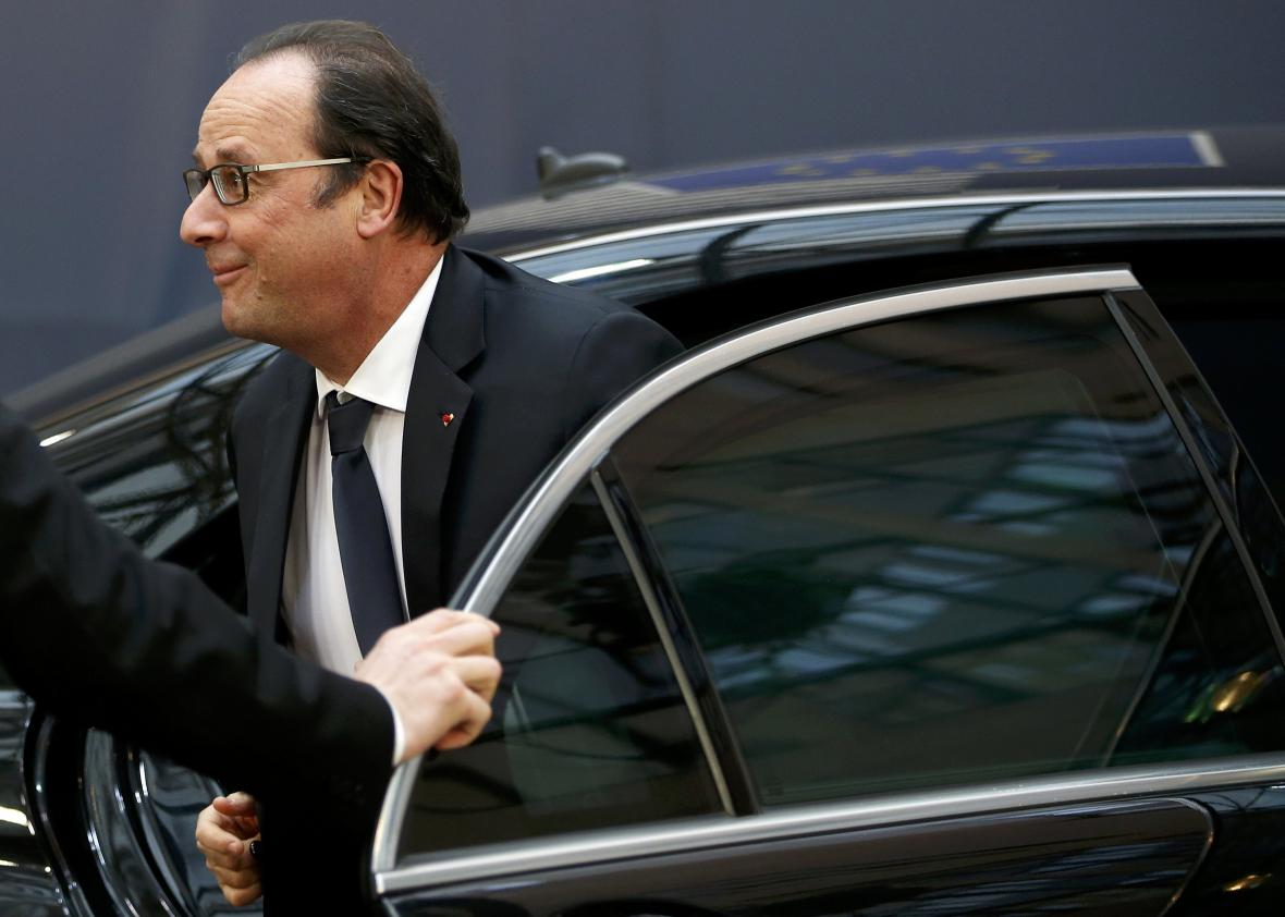 Francois Hollande na summitu v Bruselu
