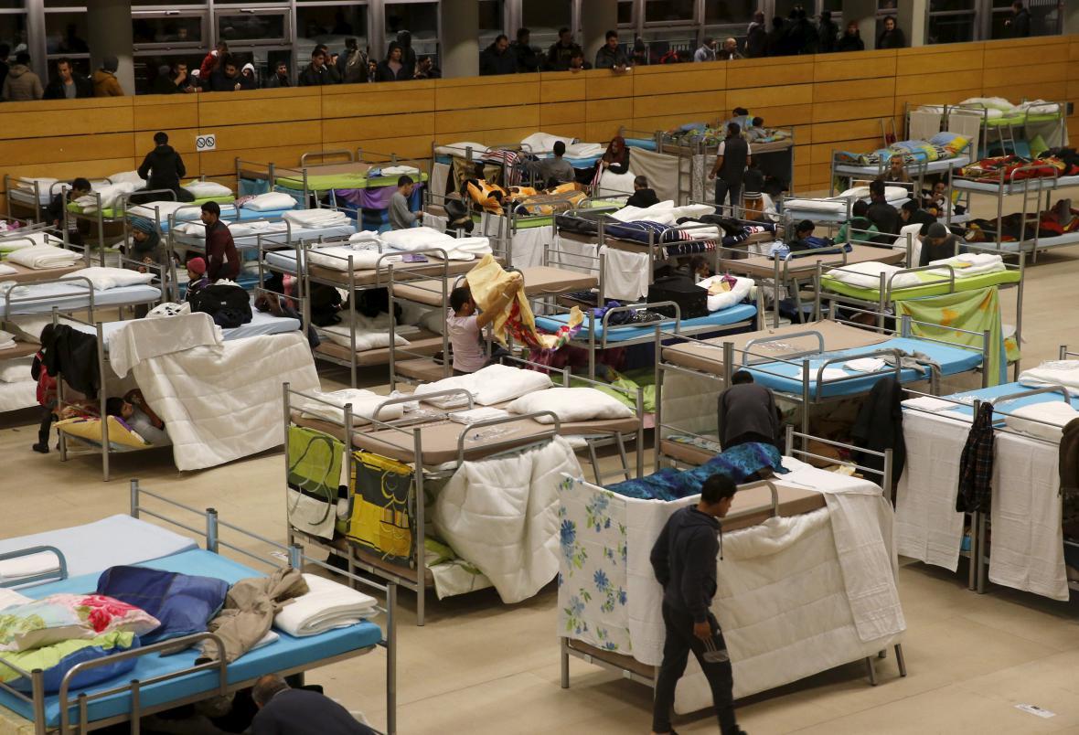 Ubytovna pro migranty v Německu