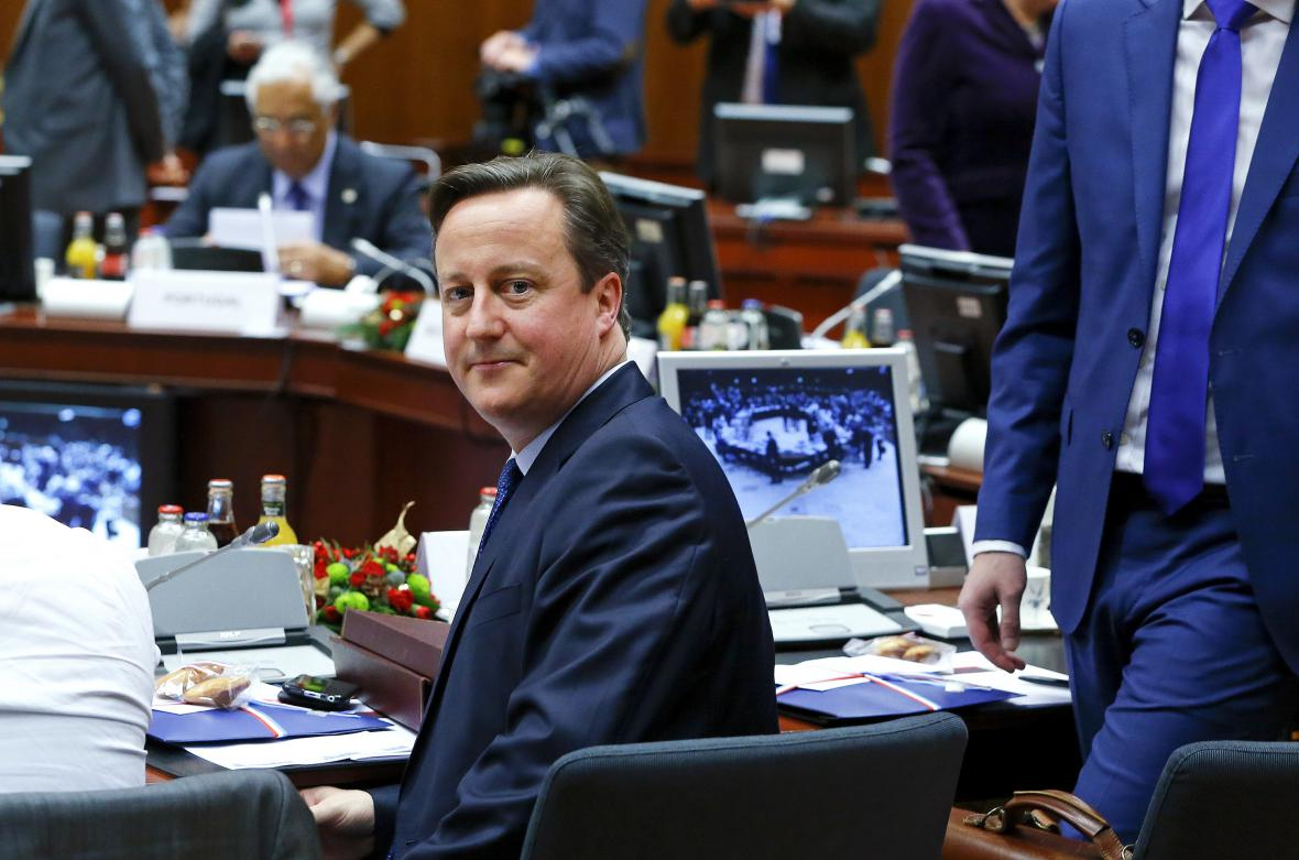David Cameron na summitu EU