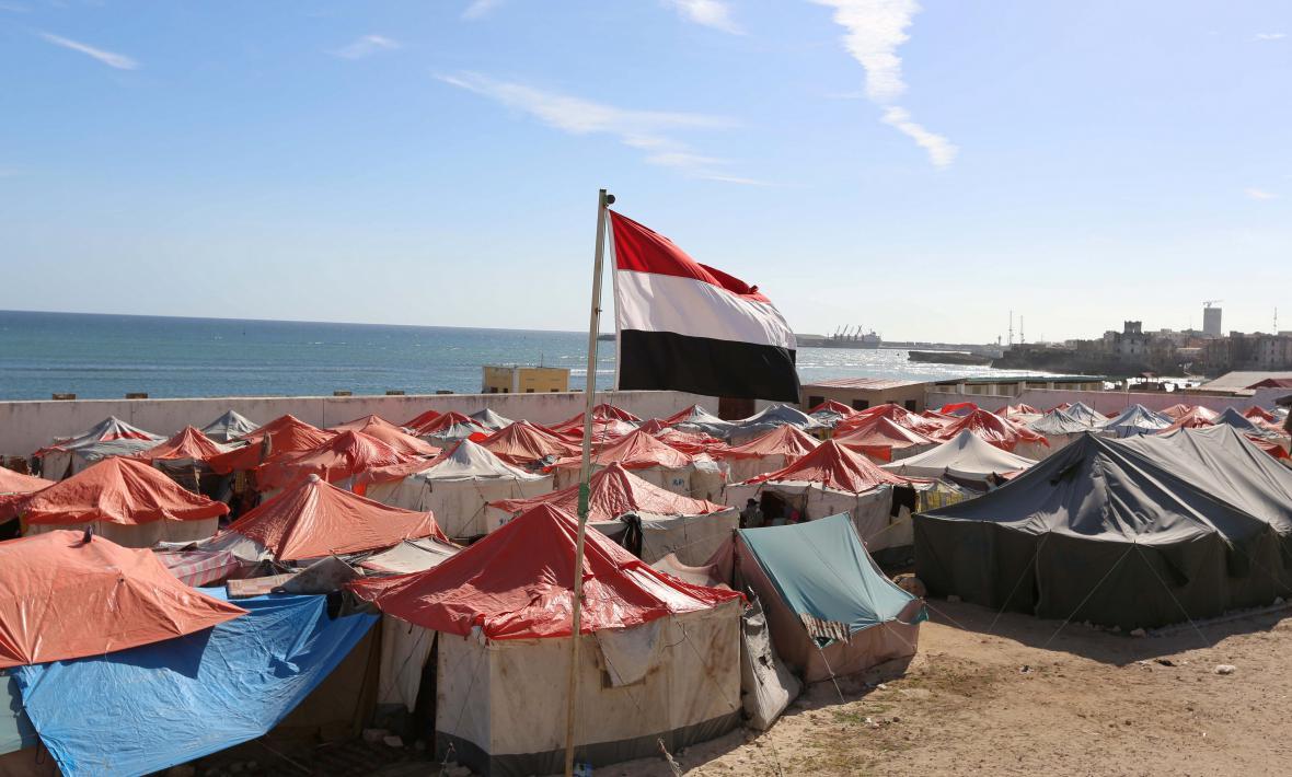 Tábor jemenských uprchlíků