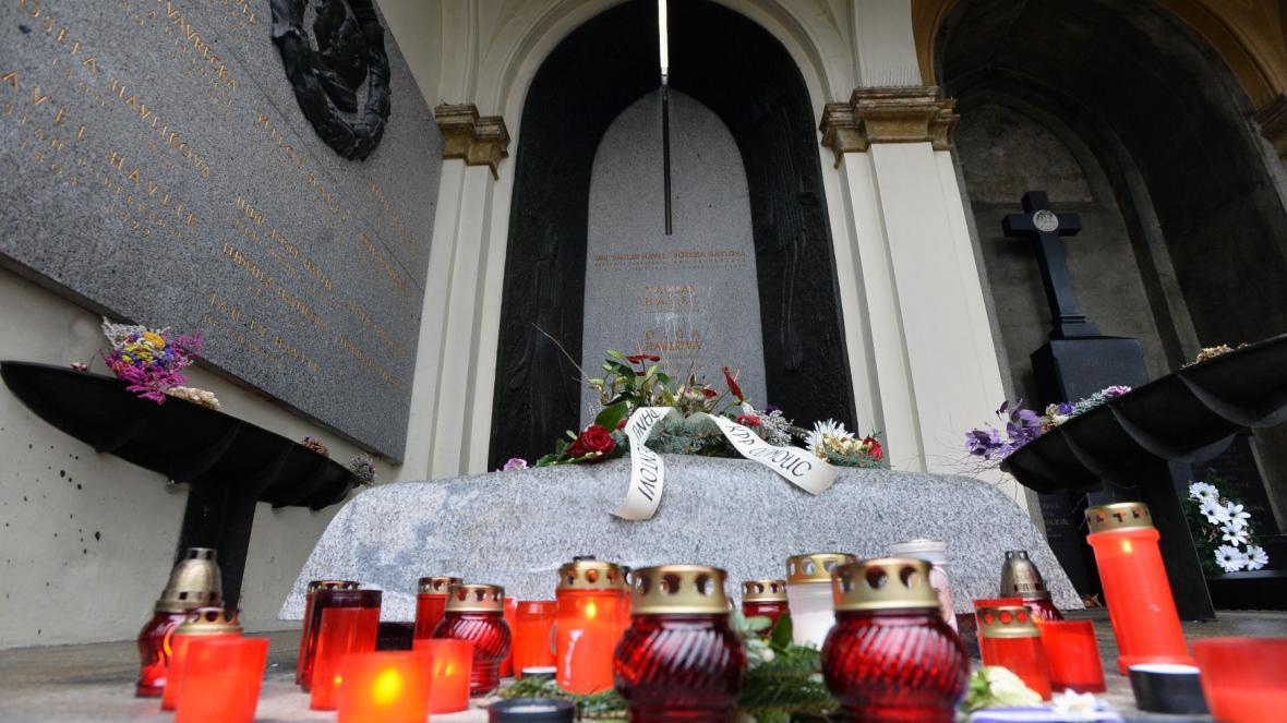Hrob bývalého prezidenta Václava Havla