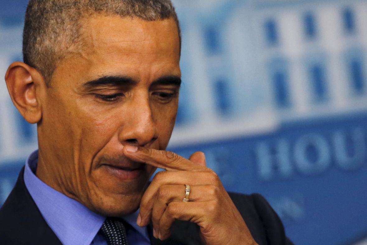 Barack Obama na předvánoční tiskovce