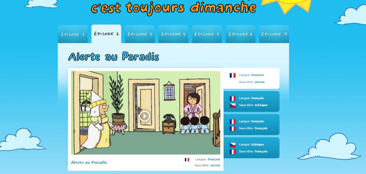 Bílá paní učí děti francouzsky