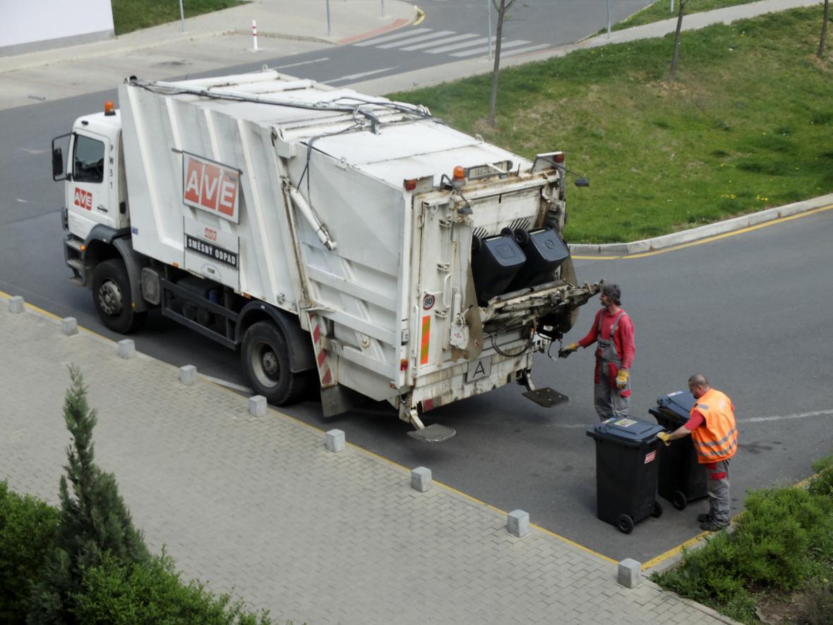 Svoz odpadu v Praze