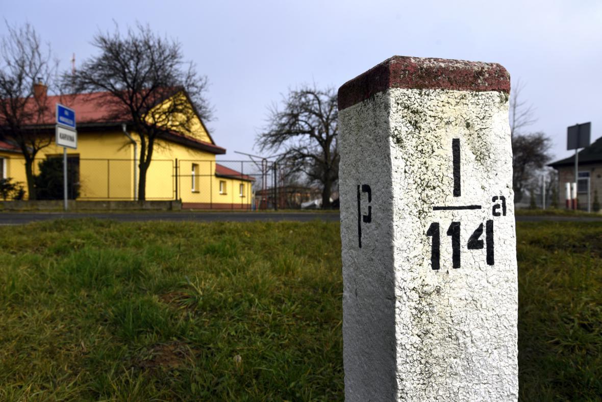 Hraniční kámen na Karvinsku - česko-polská hranice