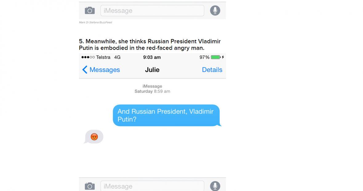 Australská ministryně Julie Bishopová odpovídala v rozhovoru pouze pomocí emotikon
