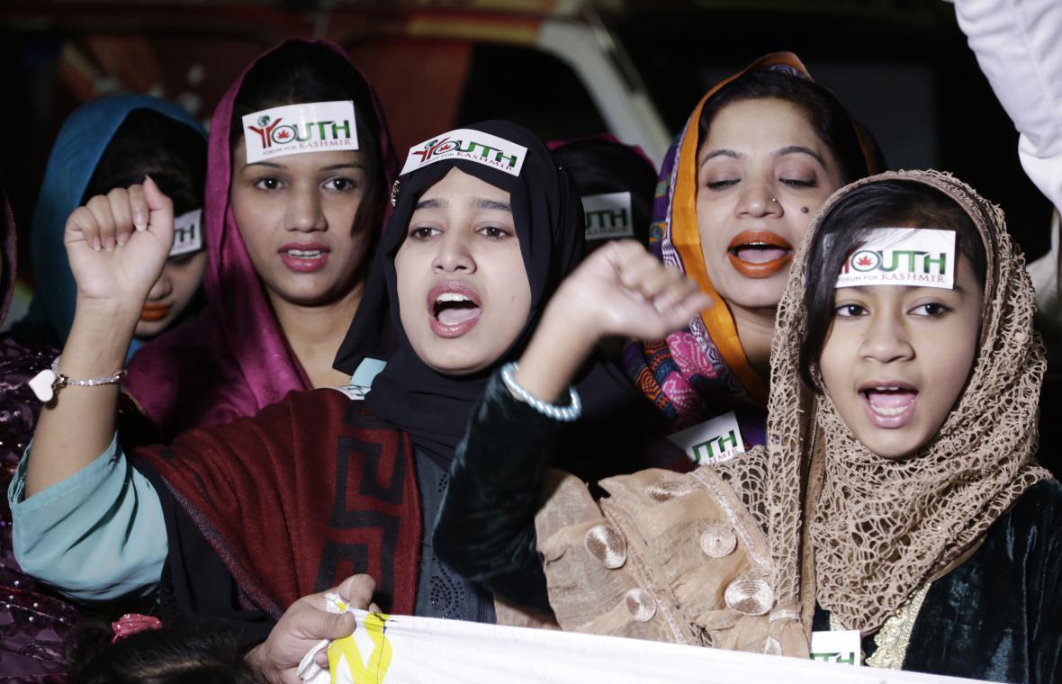 V Láhauru demonstrovali proti návštěvě indického premiéra