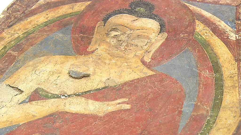 Buddha s vyškrábanými očima výstavu afghánského kušánského umění