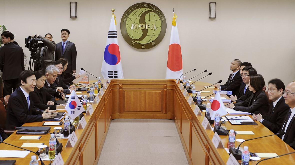 Diplomatické sbory Japonska a Jižní Koreje