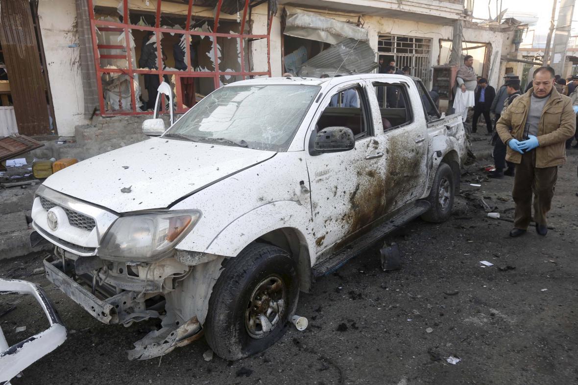 Důsledky výbuchu v Kábulu