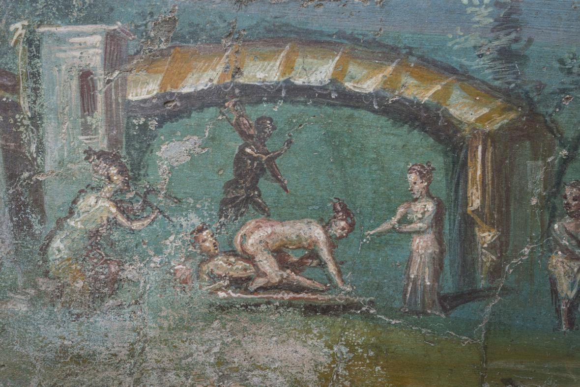 Jeden z šesti restaurovaných domů v Pompejích