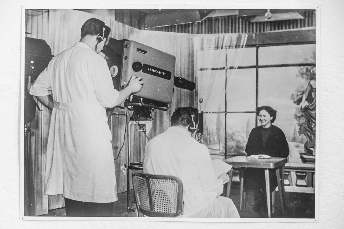 Televizní studio v televizním vysílači v Ostravě-Hošťálkovicích (1956)