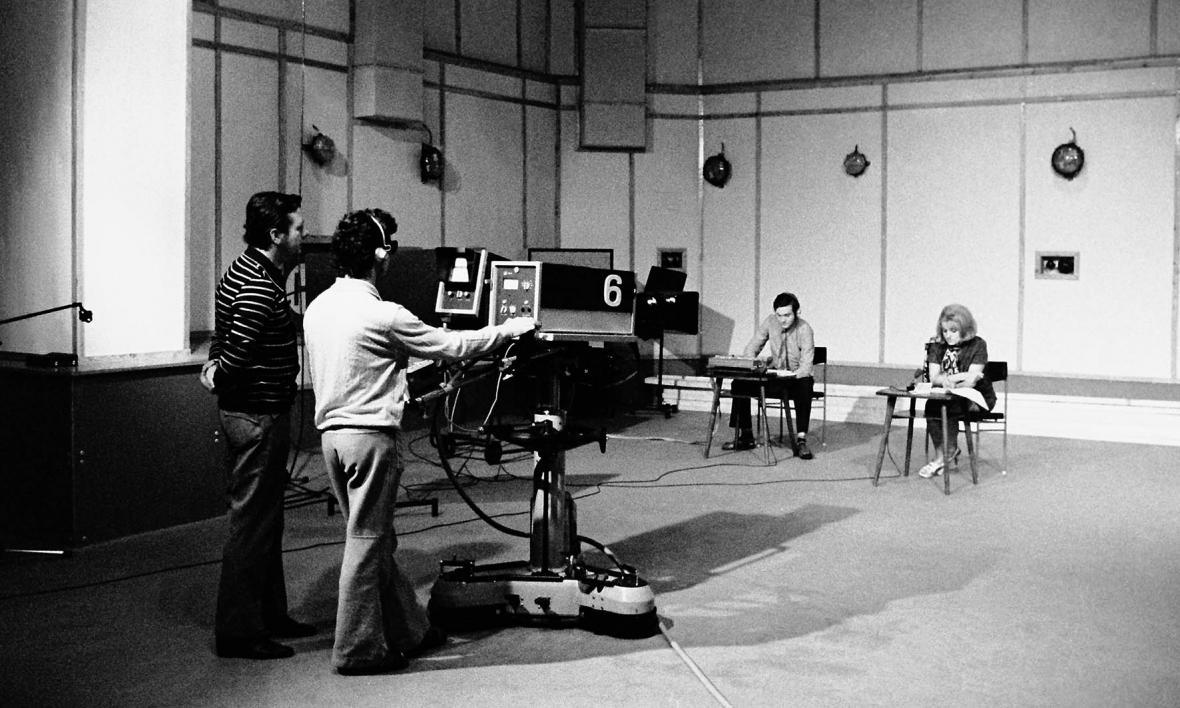 Ostravské vysílání z budovy bývalého Divadla Petra Bezruče (1975)