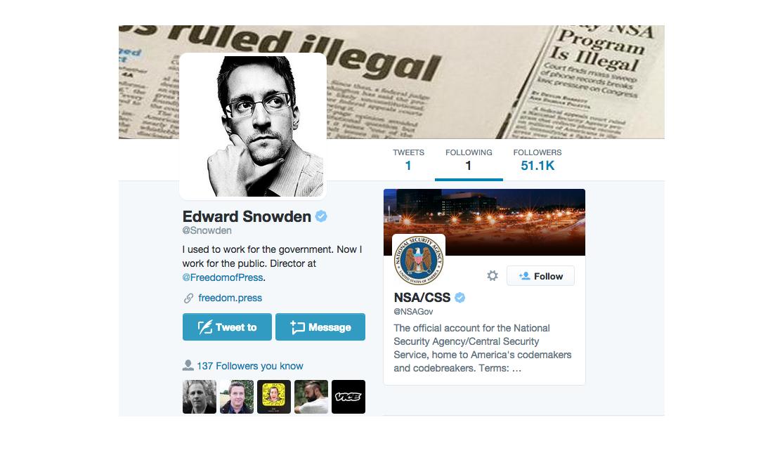 Twitter Edwarda Snowdena