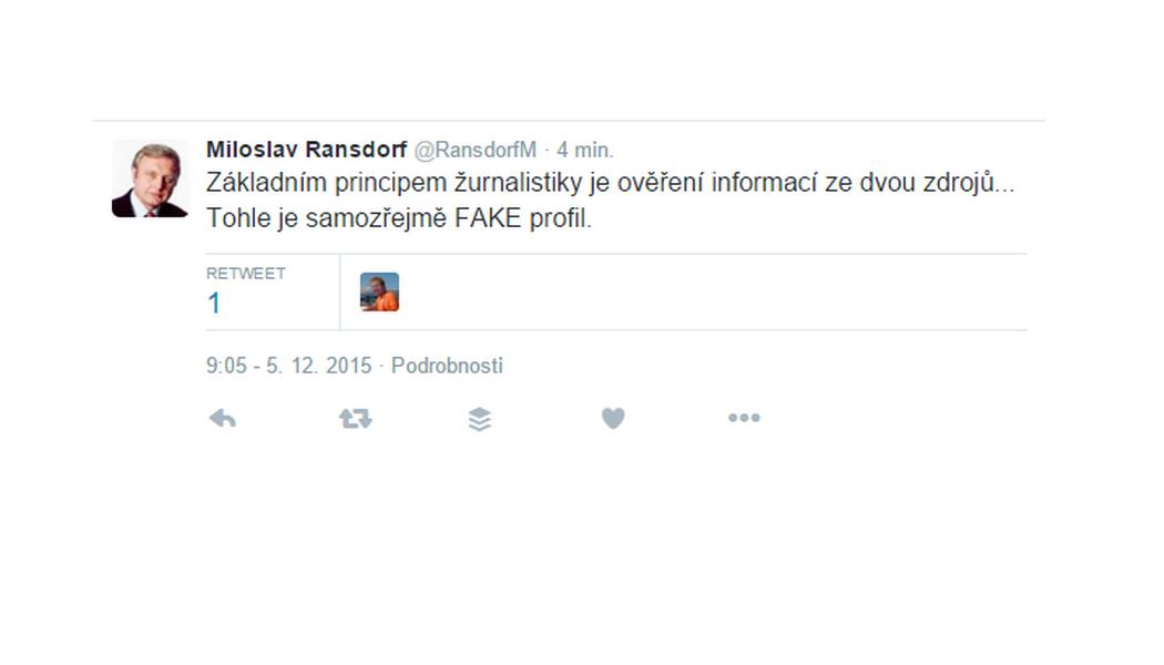 Falešný Ransdorf na Twitteru