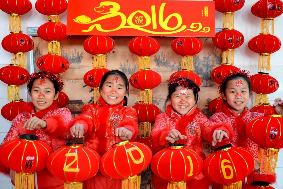 Čínské oslavy příchodu roku 2016