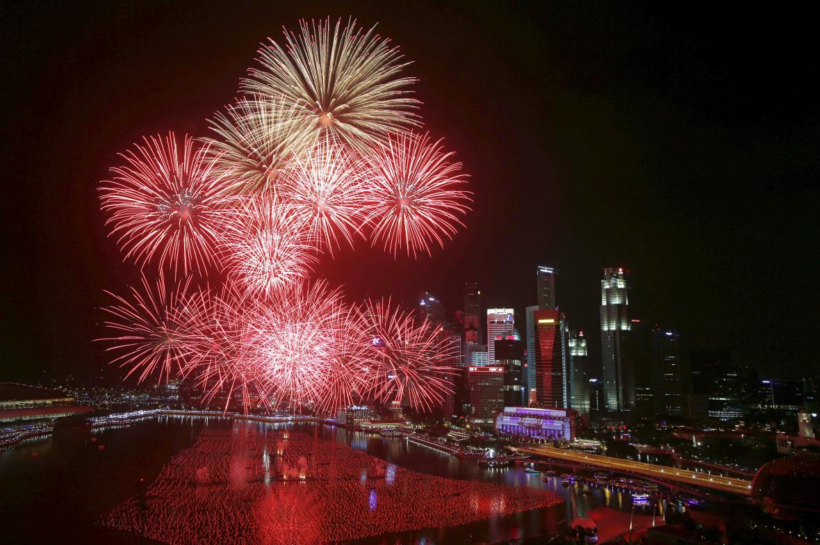 Oslavy Nového roku v Singapuru