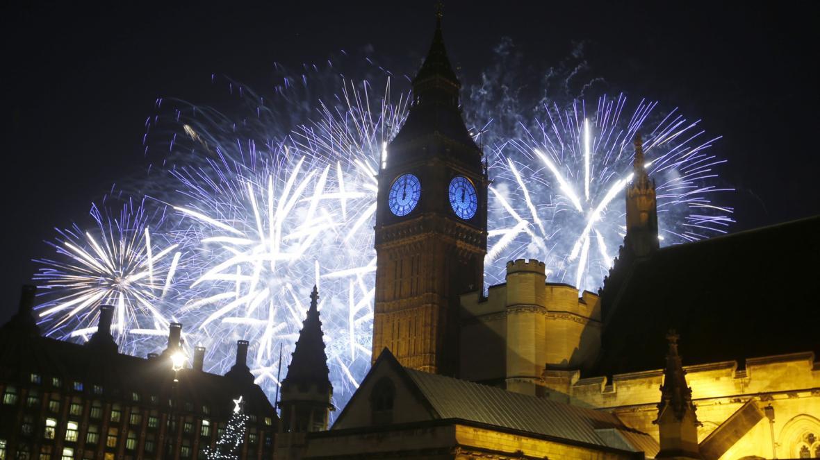 Novoroční ohňostroj v Londýně