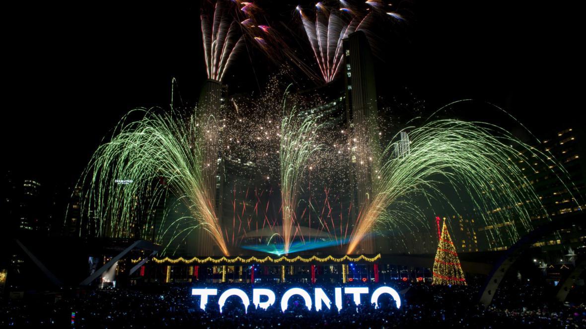 Začátek roku 2016 v kanadském Torontu