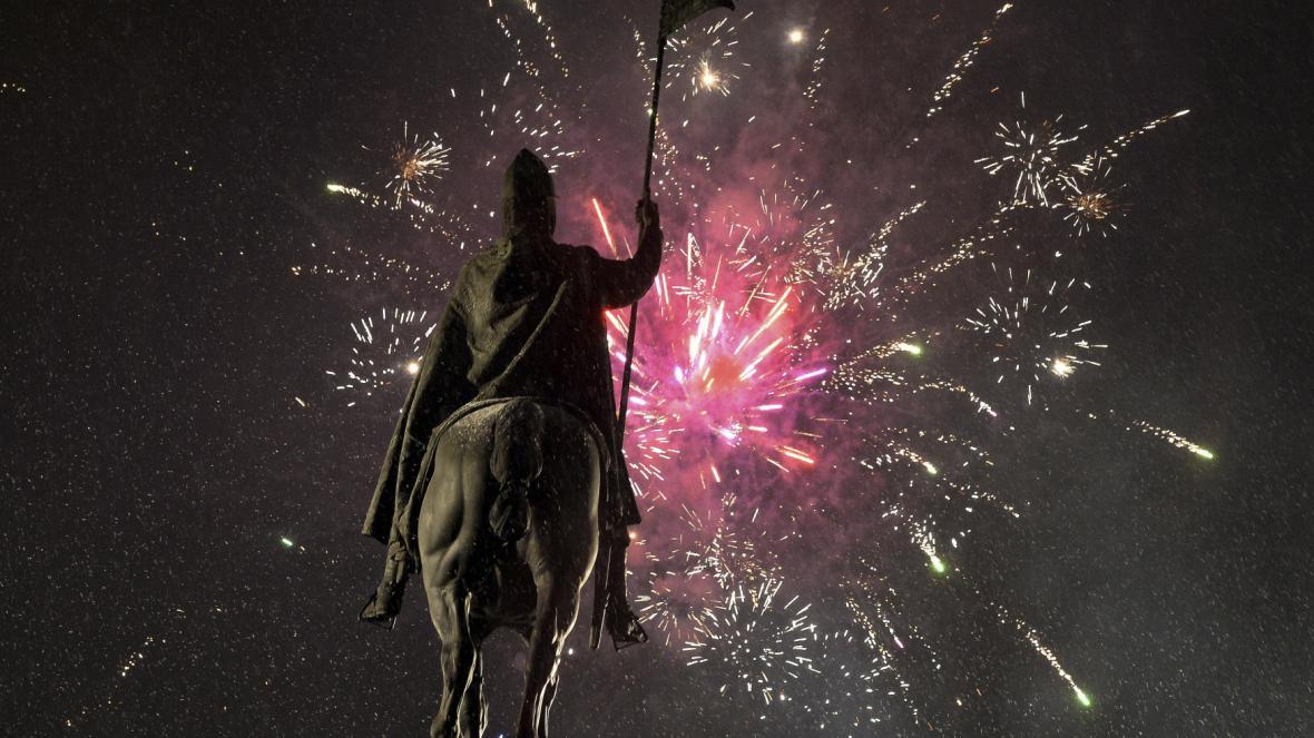Nový rok přivítala i Praha