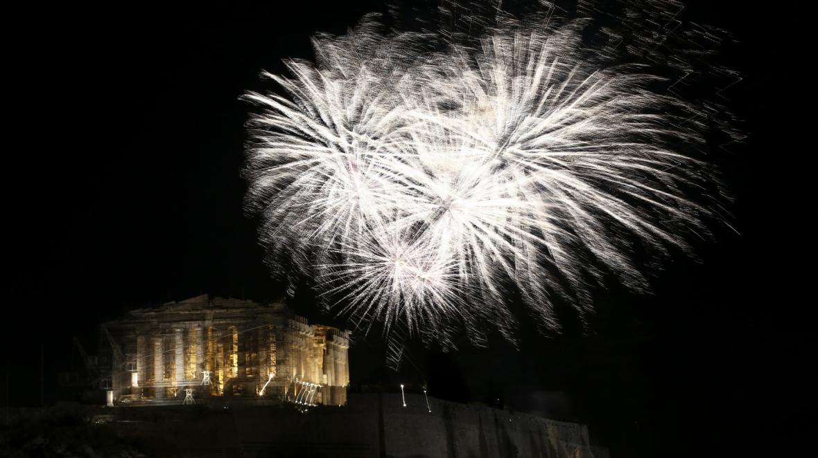 Nový rok přivítali lidé i v Aténách
