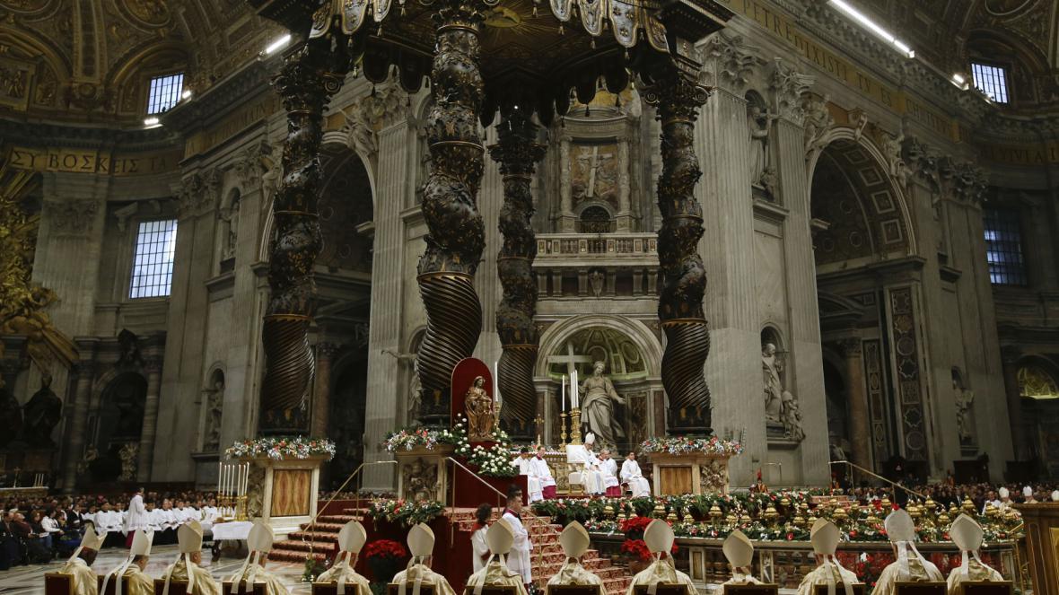 Papežovo novoroční poselství v bazilice svatého Petra