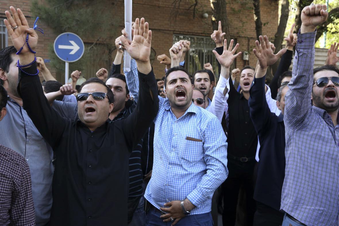 Protest kvůli popravě šíitského klerika
