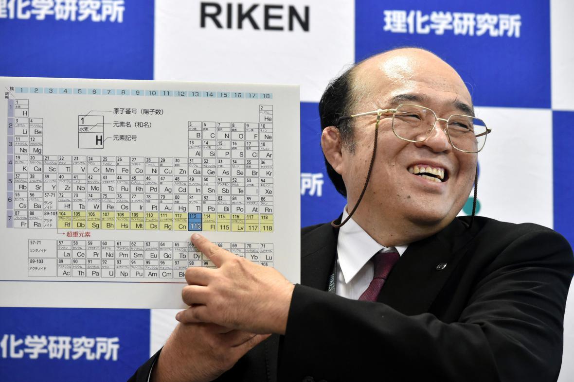 Japonští chemici objevili prvek s protonovým číslem 113