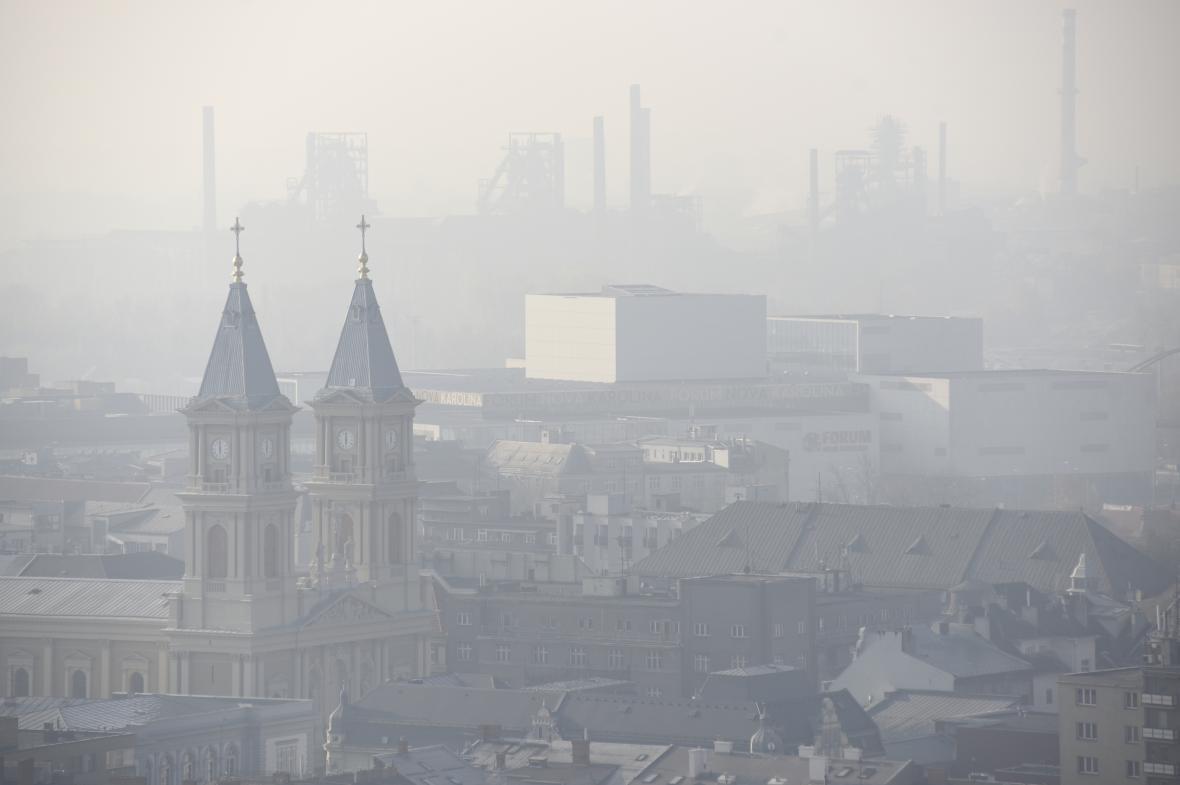 Ostrava ve smogu