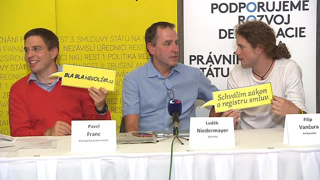 Pavel Franc (v červeném), nynější jednatel advokátní kanceláře Frank Bold