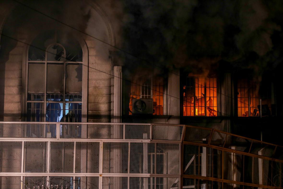 Rabování saúdské ambasády v Teheránu