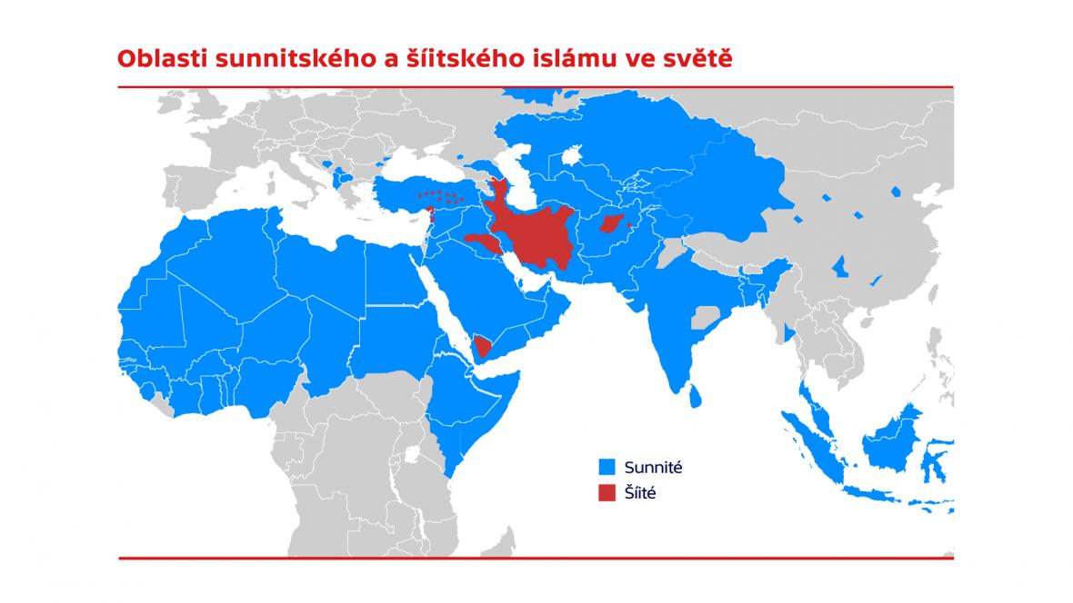 Sunnitský a šíitský islám ve světě
