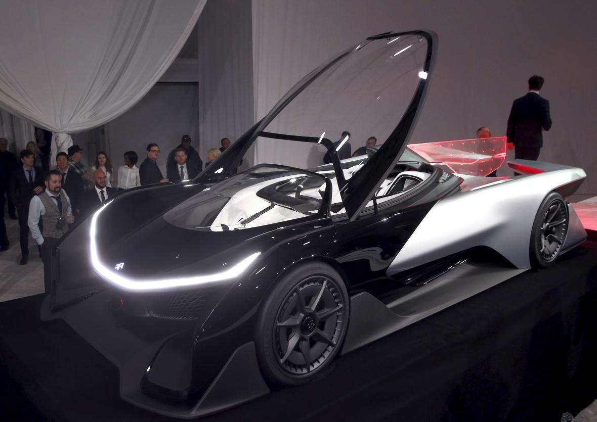 Koncept FFZERO1, který představila automobilka Farady Future.