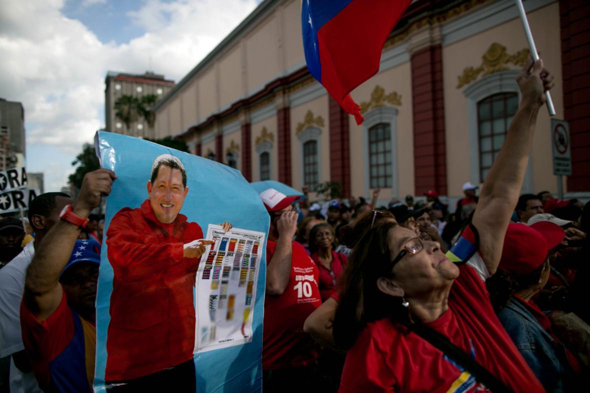 Příznivci venezuelského prezidenta