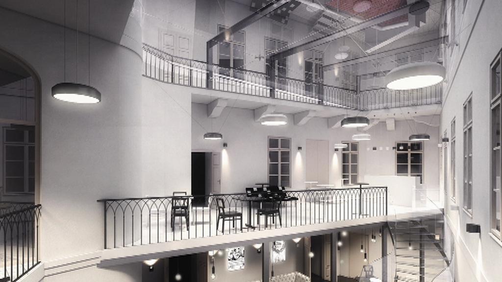 Vizualizace rekonstrukce Divadla Na zábradlí