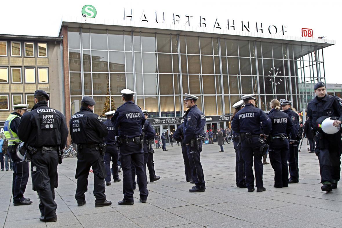 Policie na kolínském nádraží
