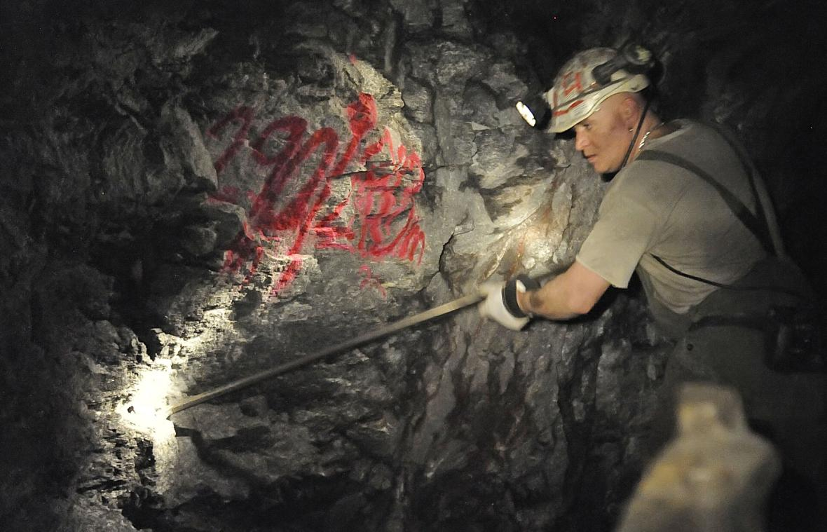 Průzkumná štola v uranovém dole Rožná na snímku z roku 2011