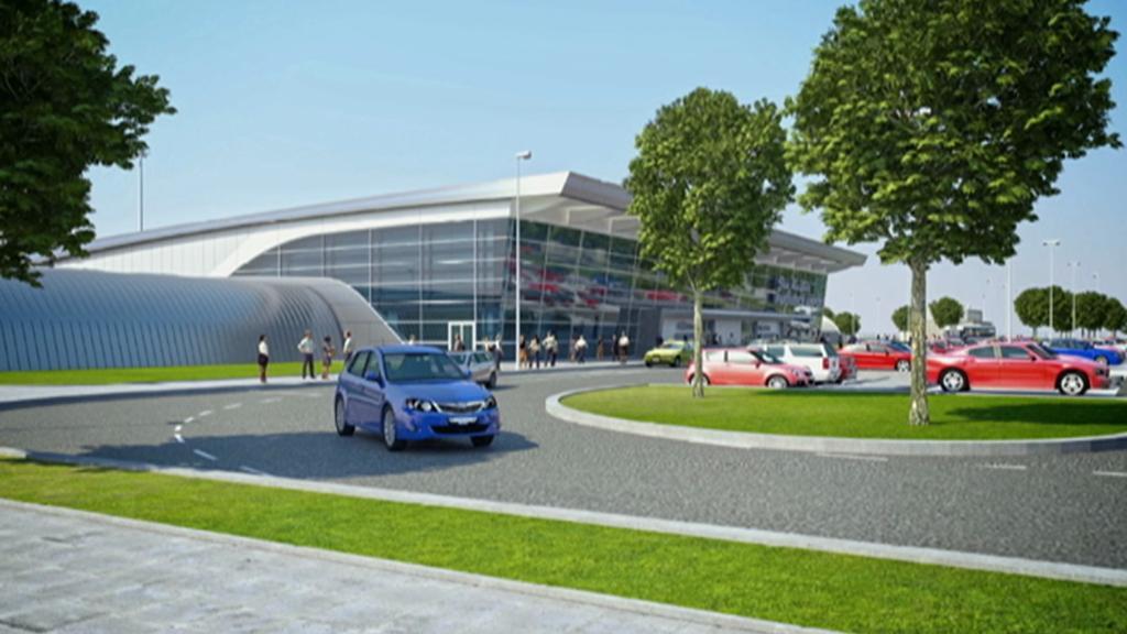 Vizualizace nového pardubického terminálu