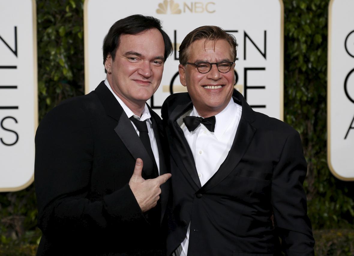 Režisér Quentin Tarantino a scénárista Aaron Sorkin