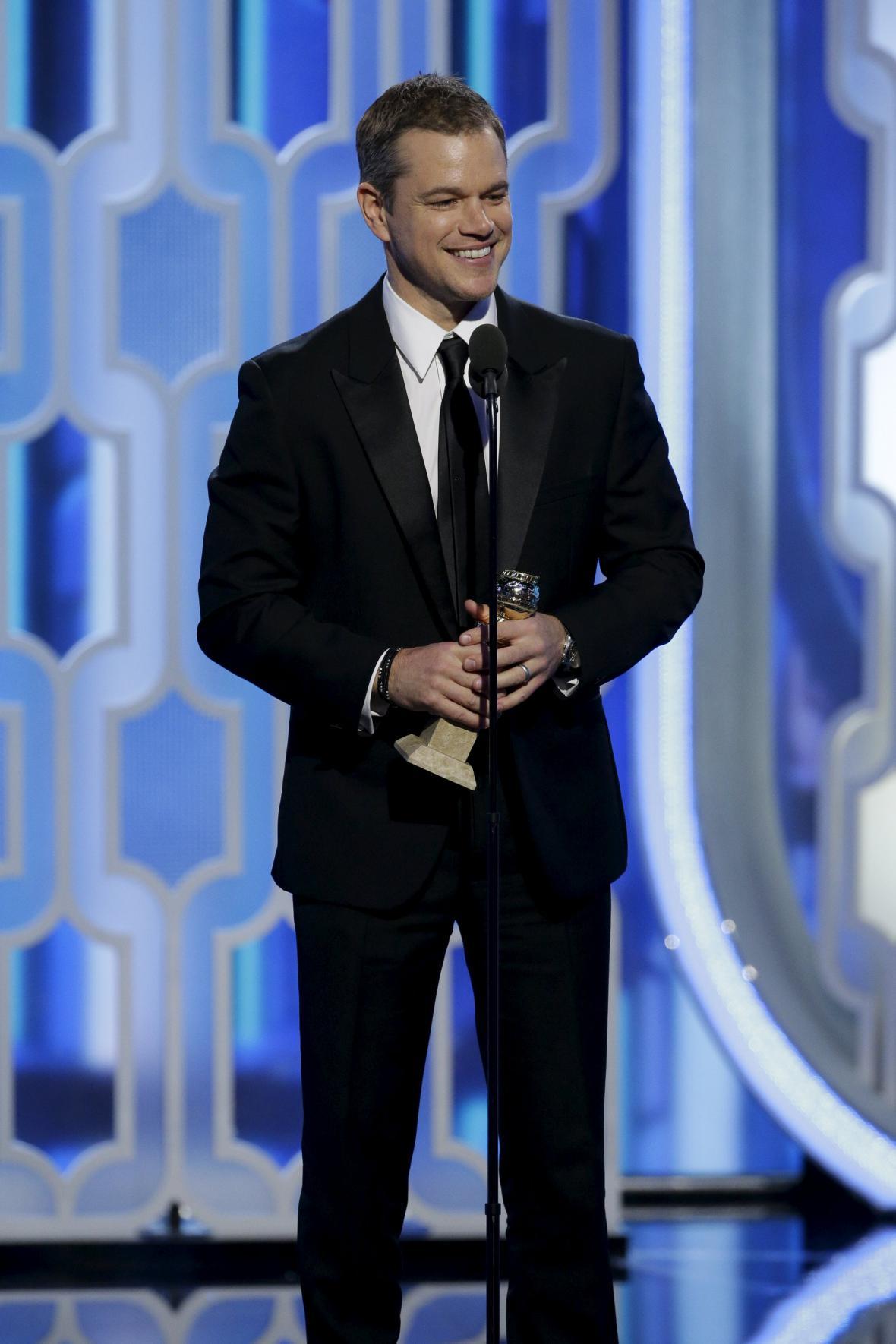 Matt Damon na Zlatých glóbech
