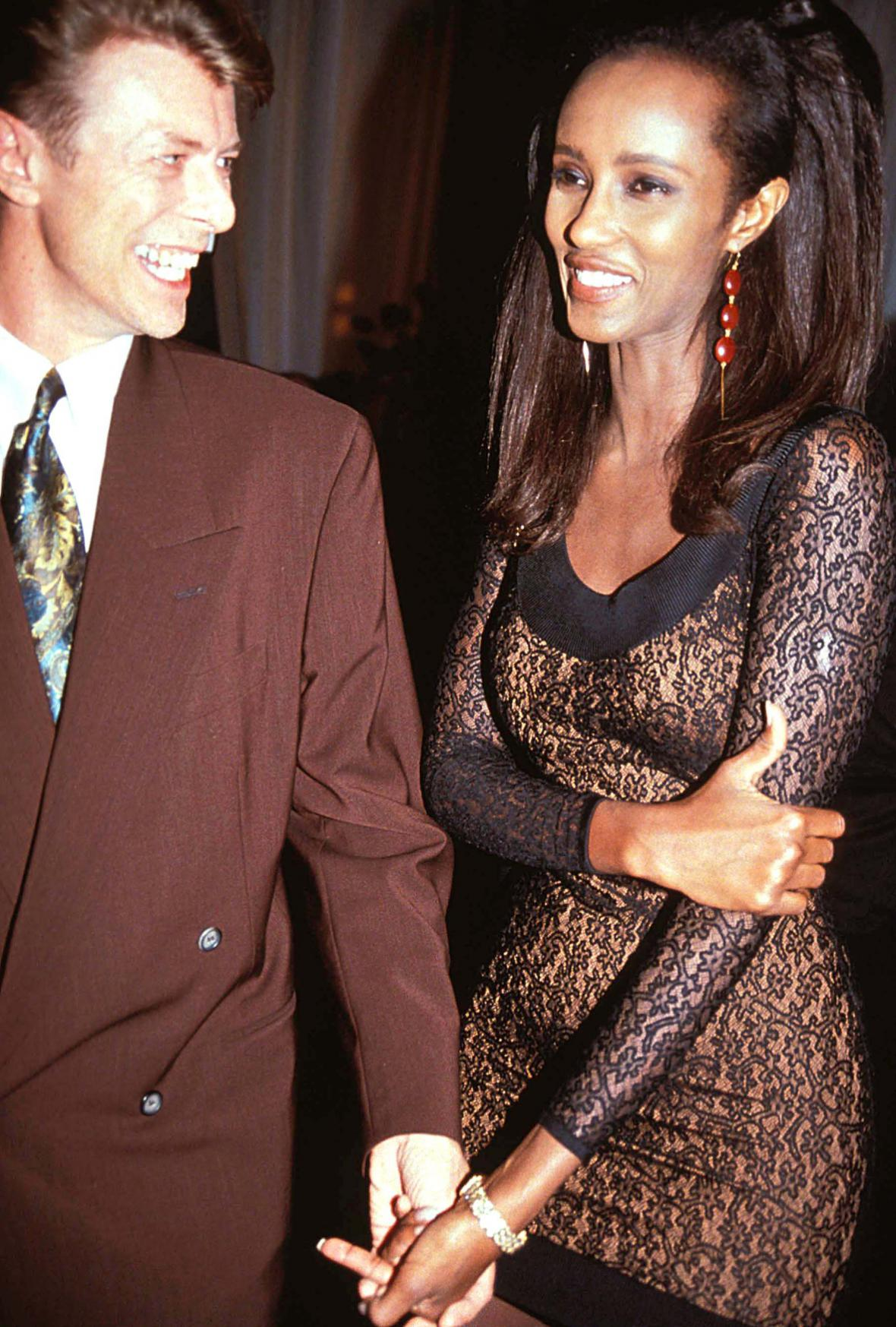 David Bowie s manželkou Iman v roce 2005