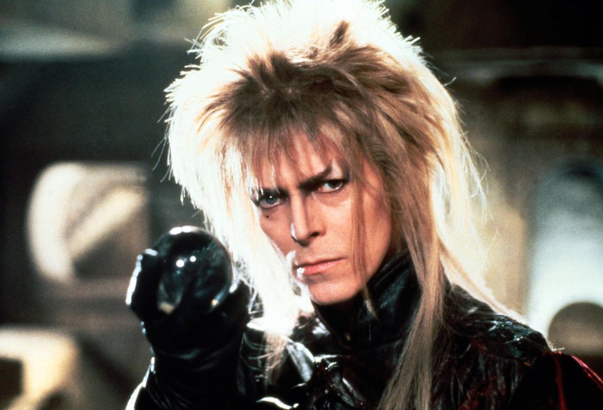 David Bowie v roce 1986 ve filmu Labyrint