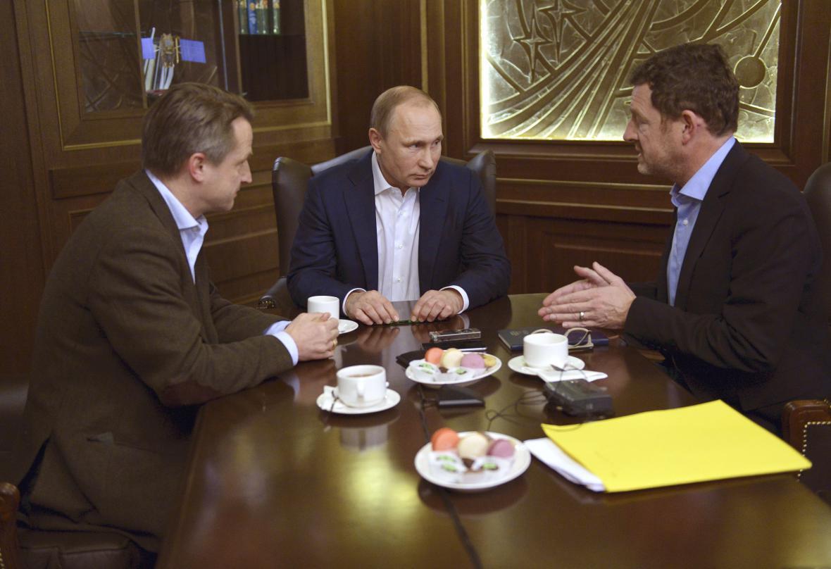 Vladimir Putin při rozhovoru pro deník Bild
